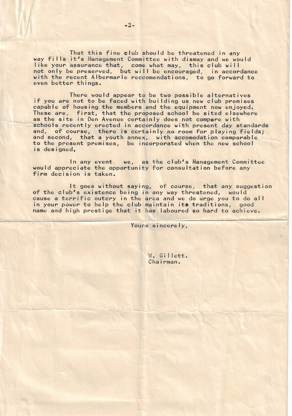 Picture of letter from 1960s (part 2)